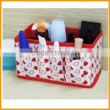 Wholesale Cheaper Colors Non Woven Fabric Foldable Desk Storage Box/Cosmetic Storage box                                                                         Quality Choice