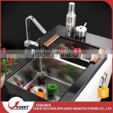 Factory Price Kitchen Sinks Wholesale 304 Stainless Steel Handmade Double Bowl Farm Sink