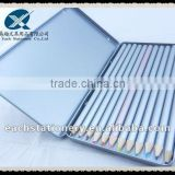BSCI factory audit, silver body water color pencil set for artist with metal pencil box set