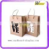 Recycled lovely clothes brown kraft paper bag with Handle