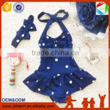 2016 One piece kid swimming suit for child girl swimwear whoelsale kid bathing suit (S013)