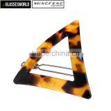 Acetate Triangle Geometric Barrettes Jewelry Girls Hairpin Factory in China AE002
