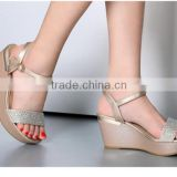 pictures of naked women sexy shoes fashion wedge high heel sandals with hole Plastic new women shoes 2015