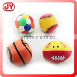 4 asst styles stuffed rugby ball with football basketball baseball rugby with PVC Bag with header with EN71 and more