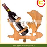Good design animal shape bamboo wine holder