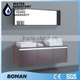 Double Sink Glass Bathroom Cabinets