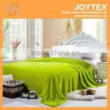 2014 hot super soft solid color flannel fleece with carving korean blanket