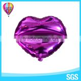 2016 lips shape decoration foil balloon with different colors for party supplies and wedding stage