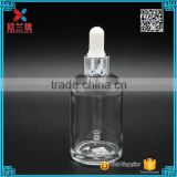 Alibaba China factory for Personal care essential oil round shape 50ml glass bottle with child proof dropper                                                                                                         Supplier's Choice