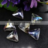 2016 Fashion triangle shaped beads treasure glass beads chandelier glass spare parts