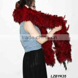 Full Fluffy coque feather Boa LZBYK35