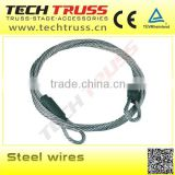 high quality truss accessories steel wires , steel wires used in heavy duty truss system for concert stage.