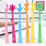 new fashion soft cute design rubber creative flexible finger ball pen/finger pens