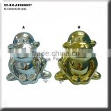 chrome plating monkey ceramic money box