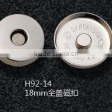 18 mm full cover magnet button for bags