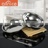 AllNICE factory enough thick and weight stainless steel serving bowl/metal food bowl/dinner bowl set