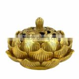 lotus flower brass buddhist incense burner oxidation buddhist jewelry nickel lead cadmium free