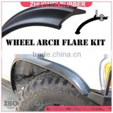 flexible rubber wheel arch flare suit 4WD 2 wheel                                                                         Quality Choice