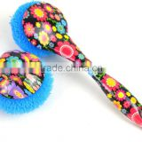 colorful flower pattern kitchen washing plastic printed dish brush