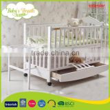 WBC-20B softtextile carved teak wood baby swing cradle bed extender for baby, baby bed rail                                                                         Quality Choice