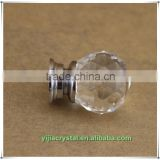 30mm Clear Cut Crystal Glass Cabinet Knobs;Delicate Crystal Knob for Furniture Hardware Handle;Diamond Crystal Knob Pull