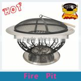 30 inch flower basket Stainless Steel fire pit