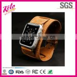 Luxury bracelet genuine leather watch strap for apple watch