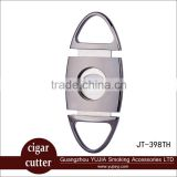 Guangzhou promotion gift cigar cutter customized stainless steel cigar cutter with nice gift box