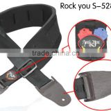 Sponge Guitar Strap/bass strap/electric guitar strap high quality widen Professional black Neoprene