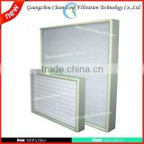 Heat-resistance compressed air filter hepa with stainless frame hepa filter air(manufacture)