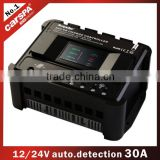12v 24v 48v solar charge controller charged for the battery 30A with led indicators pwm ENS12/24-30D