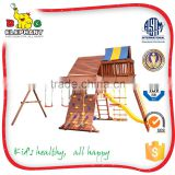 kids play system wooden outdoor playground                                                                         Quality Choice