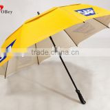 Double canopy auto open outdoor golf umbrella
