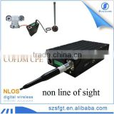 Mobile COFDM network technology non line of sight CPE with antenna