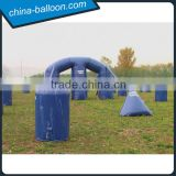 blue color inflatable paintball bunker,psp inflatable bunker barrier game for adults