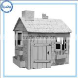 Strong big paper playhouse cardboard house for kids , kids playhouse for fun                                                                         Quality Choice