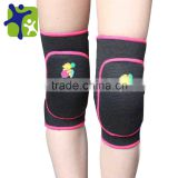Polyester fabric red knee brace sponge protector support for kids