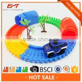 Plastic bo railway toy slot car track toy