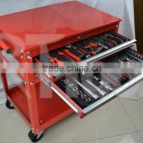 2015 NEW ITEM 130 pcs RT TOOL cabinet tools set in 2 drawer trollery cabinet