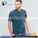 Daijun Men's Dark green 100% pique Customized Logo Printed Blank 200grams dri fit polo shirts wholesale china