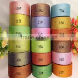 Wholesale Cheap Colored Metallic Ribbon Christmas Festival Fresh Flowers Gift Cake Box Wrapping Decorative Tape Material 25yds
