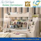 2015 hot sale beige color modern design bunk bed home kid bedroom furniture bed