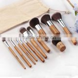 Professional 11pcs Wood Cosmetic Make Up Brushes Set Face Powder For Bobbi Brown