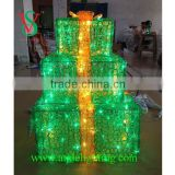 Top quality factory direct selling gift box shape christmas decoration LED motif lighting