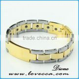 18K Gold Plated Men Bracelet Jewelry Energy Health Magnetic Bracelets for Man bio Bracelet