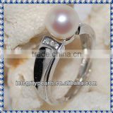 8mm perfect round white sterling silver popular jewelry ring
