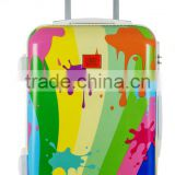 Factory Wholesale ABS+PC luggage Set 20''+24''+28'' Colorful Printes Style Customized Order