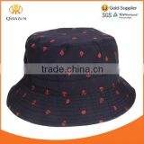 black 100% polyester/nylon/cotton/canvas full overall printing summer casual bucket hat canvas custom digital print bucket hat