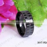 Hign quality IP black Titanium / steel wedding ring fashion jewelry for men/woman