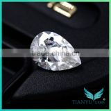 lab grown diamonds pear cut synthetic white rvd cvd for making jewellery moissanite